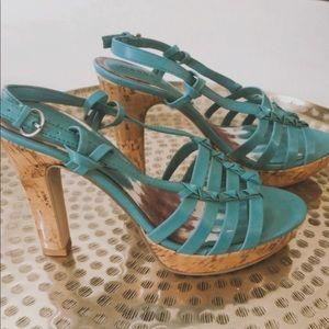 Madden Girl Cork heel platform stiletto sandal